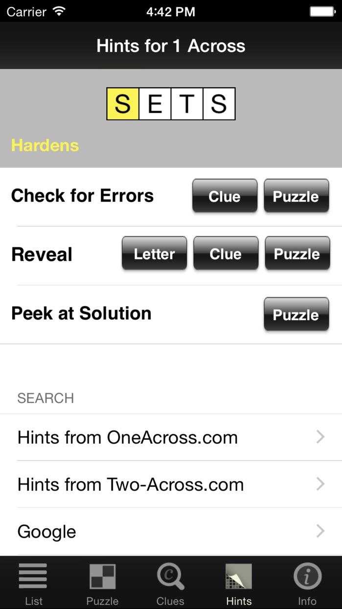 Crossword Light Screenshot