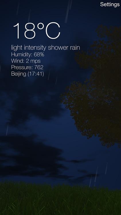 Nature Live Weather 3D LITE screenshot-3