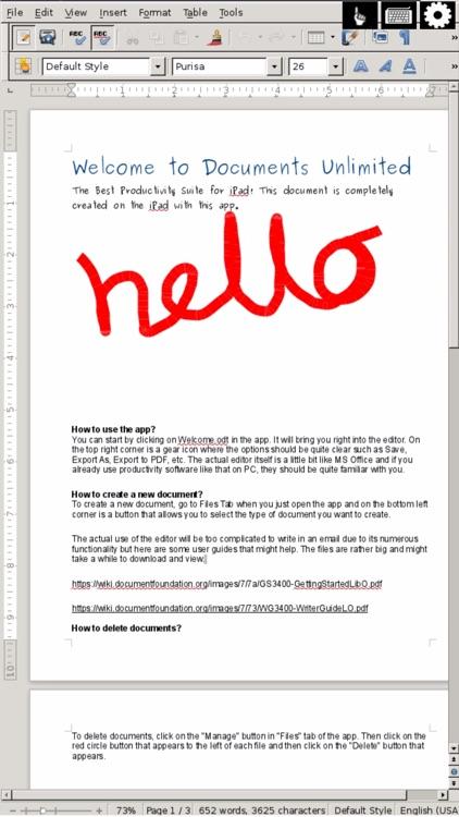 Docs U - Edit Microsoft Office Doc for iPhone Free