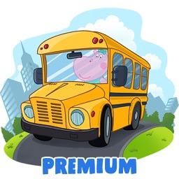Kids School Bus Adventure. Premium