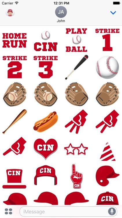 Cincinnati Baseball Stickers & Emojis screenshot-3