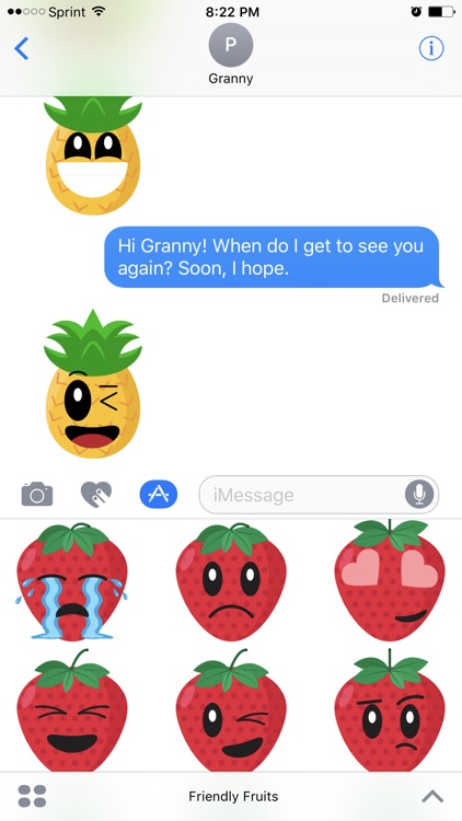 Friendly Fruits Sticker Pack