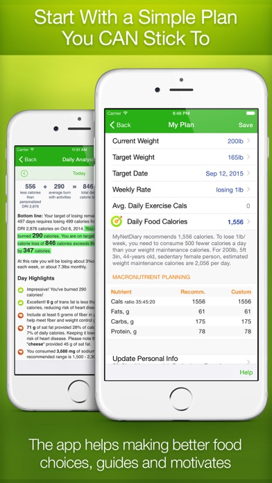 Calorie/KJ Counter and Food Diary by MyNetDiary screenshot two
