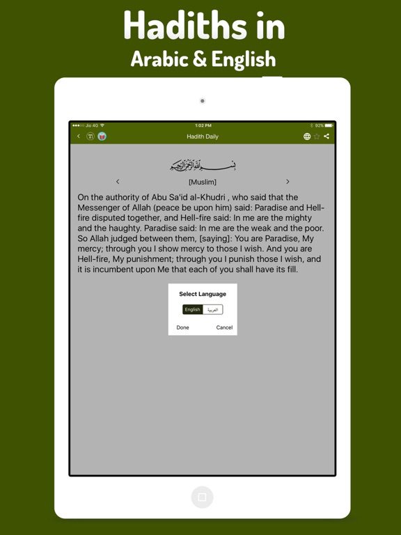 Hadith Daily Pro - Islamic App for Muslim, Islam Screenshots