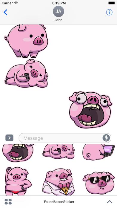 Fallen Bacon Stickers Screenshot 3