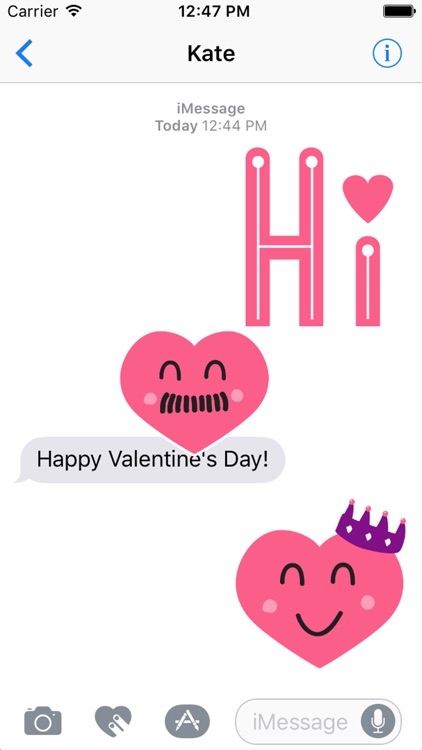 Valentine Smiles Sticker Pack screenshot-1