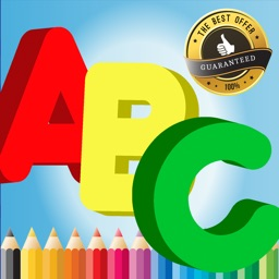 Alphabet A to Z Coloring Book for children age 1-6