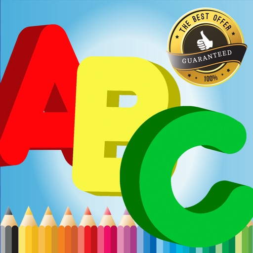 Alphabet A To Z Coloring Book For Children Age 1 6 App Logo