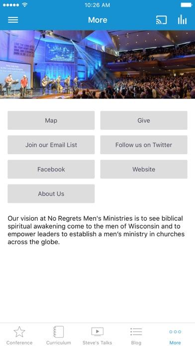 No Regrets Men's Ministries screenshot 3