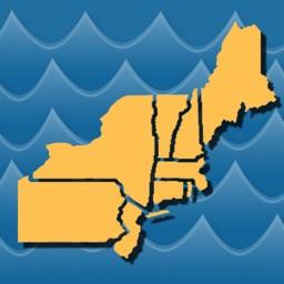 Stream Map USA Northeast by Gogal Publishing Company
