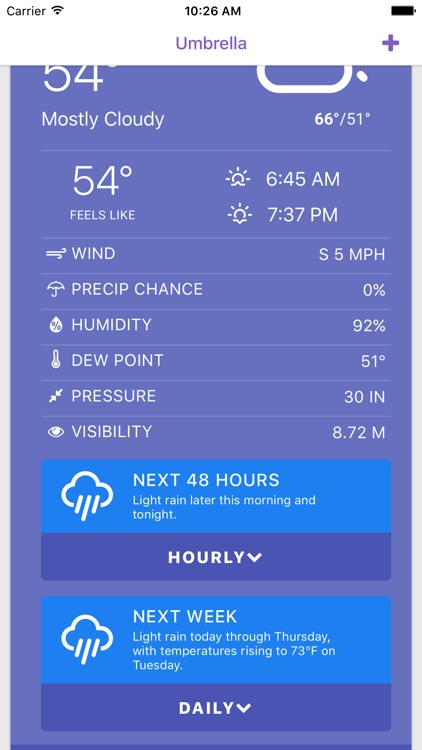 Umbrella: Simple Weather App screenshot-1