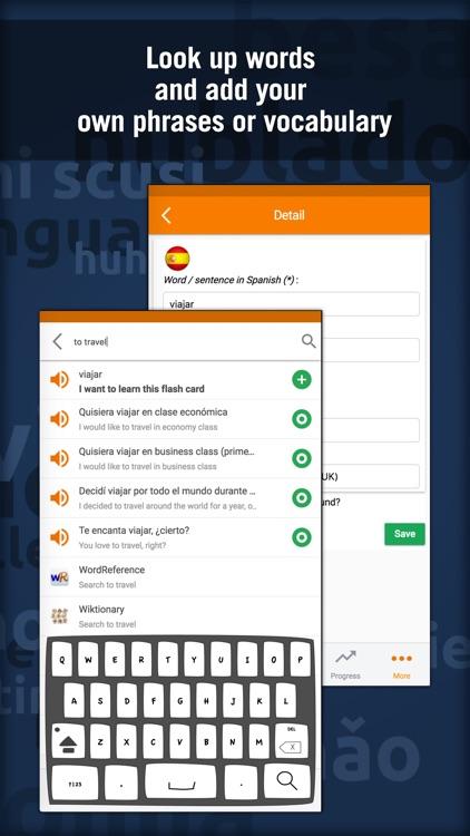 Learn Spanish: MosaLingua screenshot-4