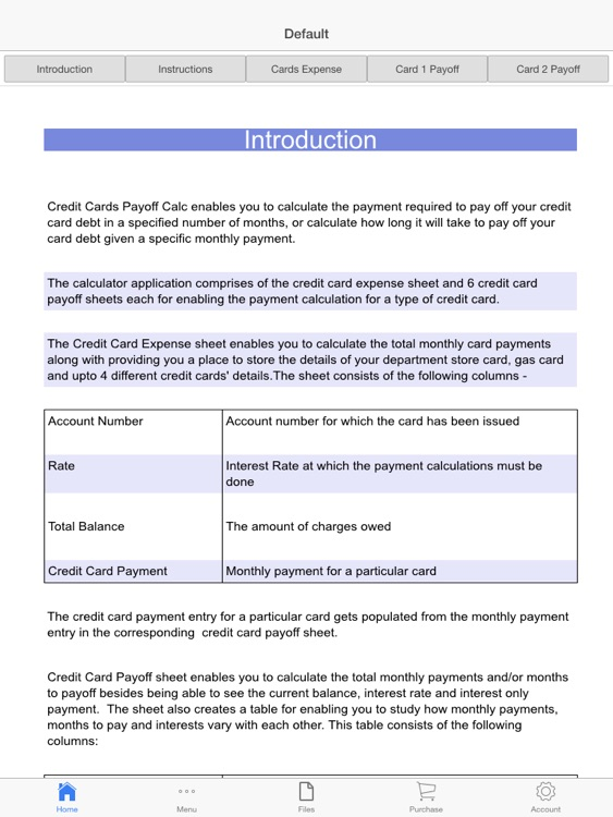 Credit Cards Payoff Calculator screenshot-2