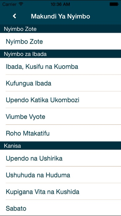 Screenshot for Nyimbo za Kristo in United States App Store