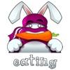 CandyASSによるかわいい忍者ウサギのステッカーステッカー