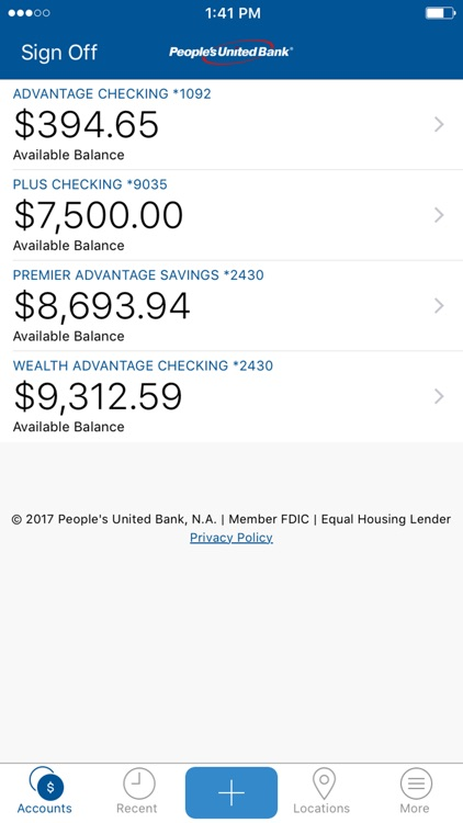 People's United Bank Mobile screenshot-0