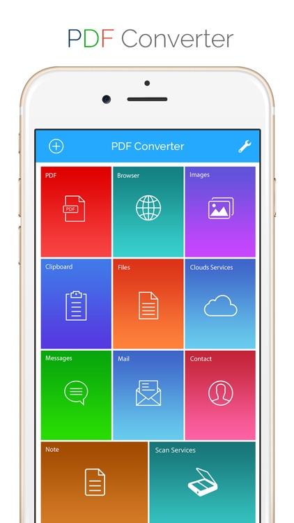 PDF Converter - Convert documents, WebPages TO PDF