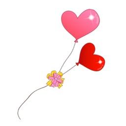 Love Balloon Stickers for Valentine Day