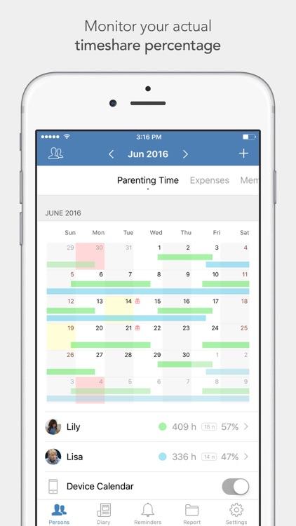 Alimentor - Child Custody Tracker screenshot-0