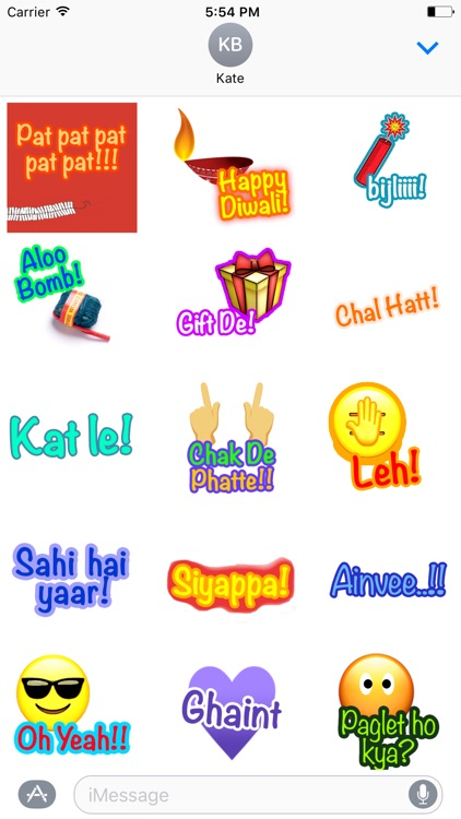 Oye Hoye: Funky Hinglish Stickers for iMessage
