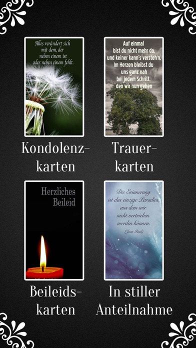Trauerkarten Beileidskarten Kondolenzkarten TRAUER screenshot 4