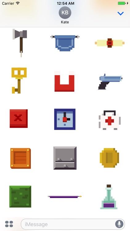 Animated Pixel Game Stickers screenshot-3