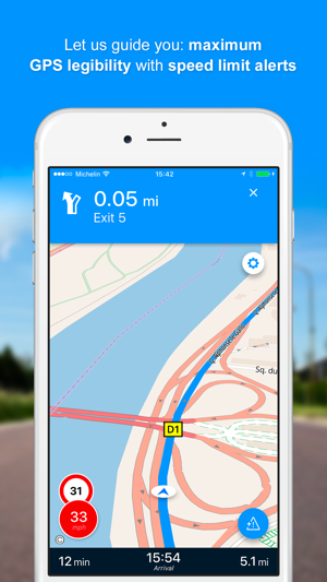 viamichelin gps route planner on the app store. Black Bedroom Furniture Sets. Home Design Ideas