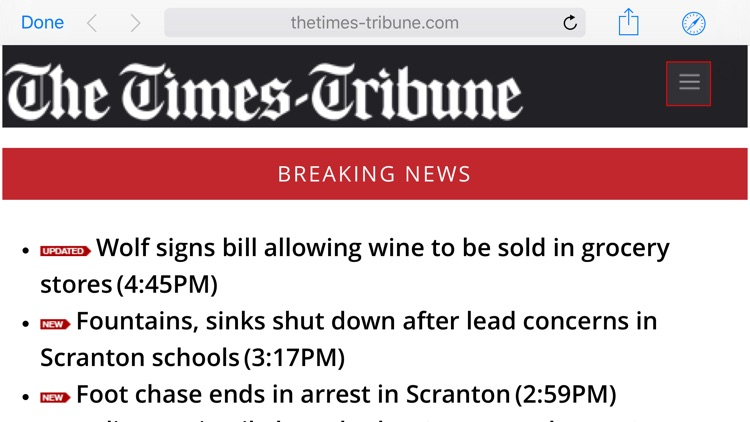 The Scranton Times-Tribune for iPad