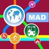 Madrid シティマップス - ニューヨークを MAD を MRT, Bus, Guides