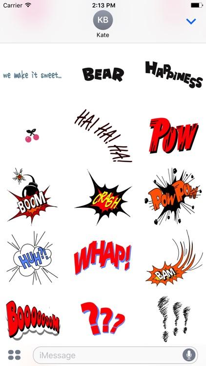 Comic Talk Stickers Pack 04