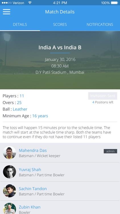 CrickNation - Cricket Finder screenshot-3