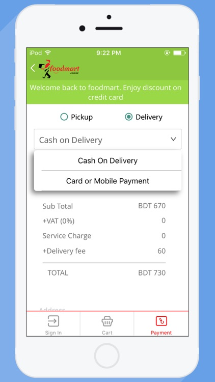Foodmart- food delivery screenshot-3