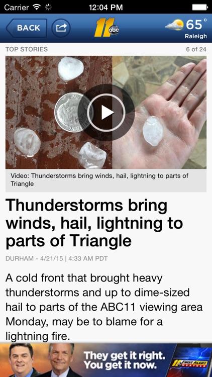 ABC11 Raleigh Durham: News, Weather, Traffic screenshot-3