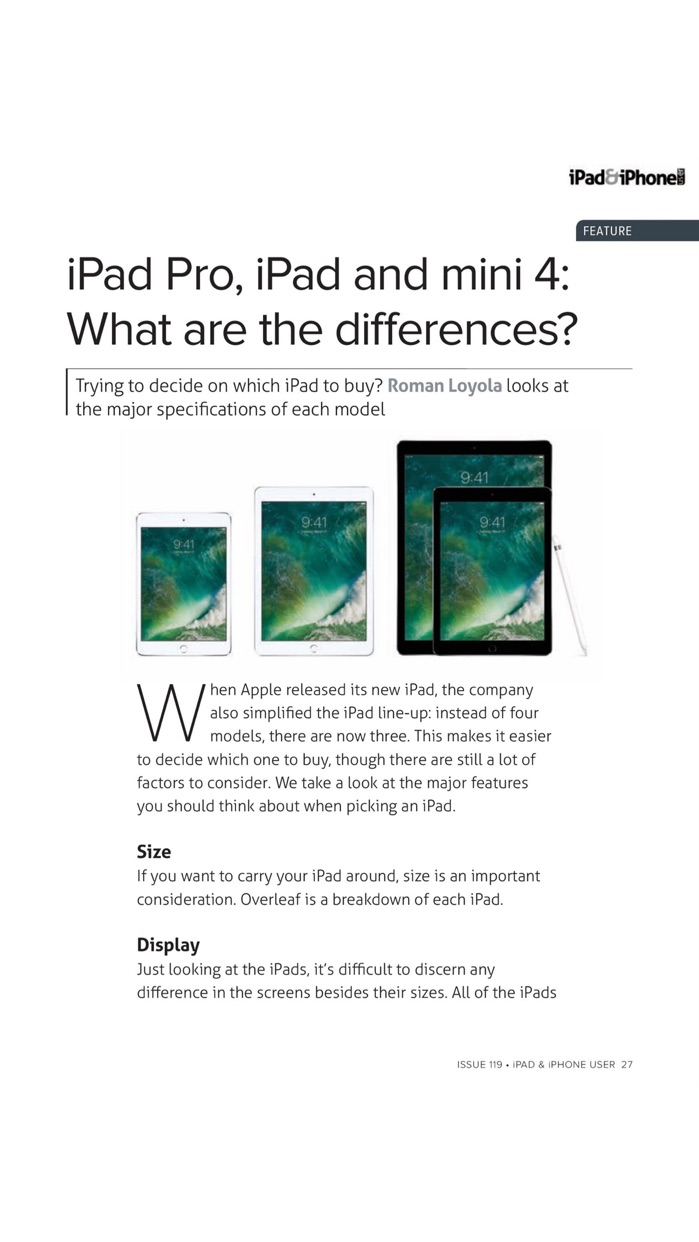 iPad & iPhone User magazine: Apple iOS to the core: news, tutorials, reviews and apps Screenshot