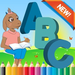 Farm Animals ABC Coloring Book for kids age 1-10