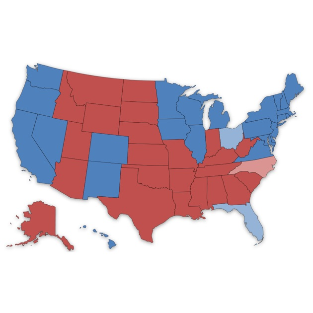 Presidential Election Electoral College Maps On The App Store - Us election 2016 map
