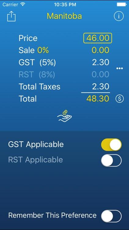 Sales Tax, Tip & Discount CANADA screenshot-4
