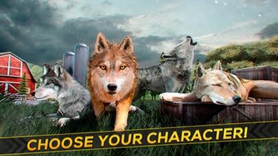 Wolf Simulator 2016 . Animal Running Game for Free Screenshot on iOS