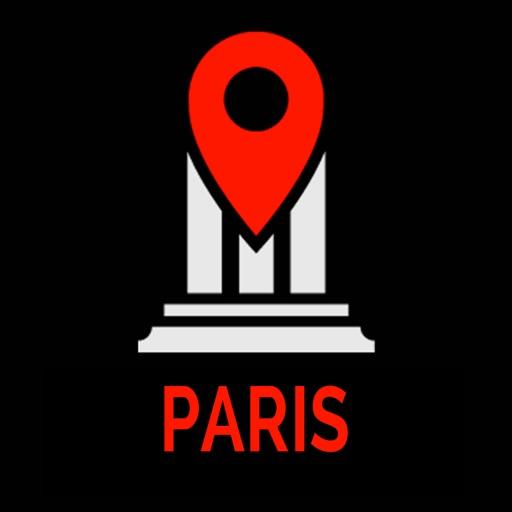 Paris Travel Guide Monument Tracker - Offline Map