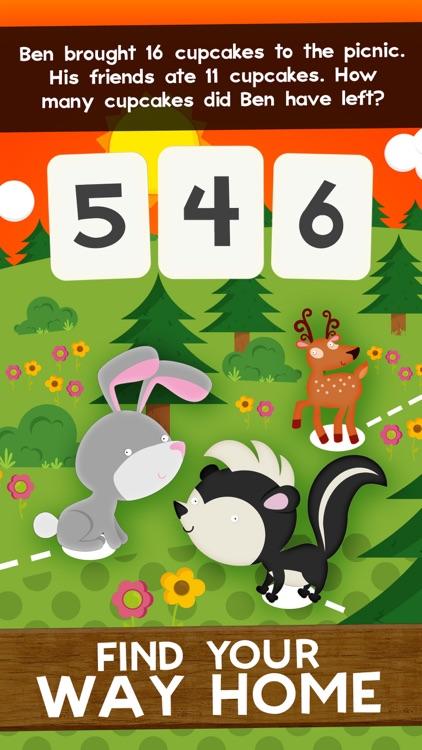 Animal Math Second Grade Math Games for Kids Maths screenshot-3