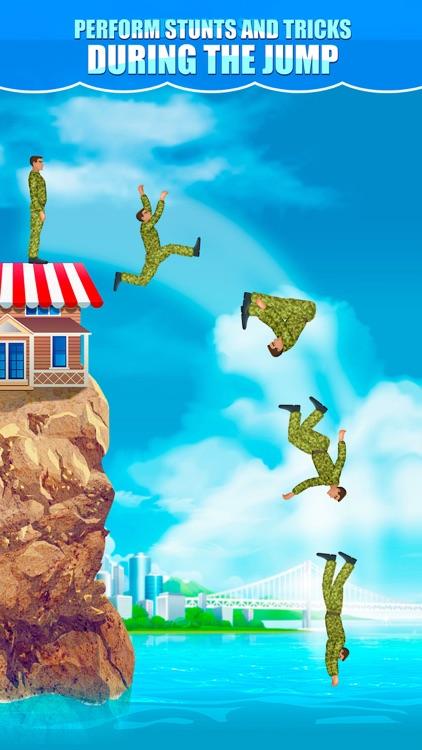 Cliff Flip Diving 2D: Swimming Simulator screenshot-3