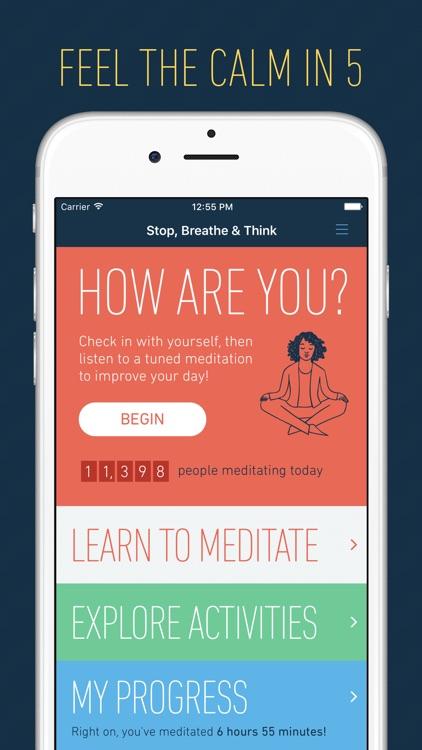 Stop, Breathe & Think: Meditation and Mindfulness