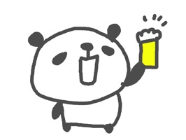 Beer Party Panda 40 iMessage stickers