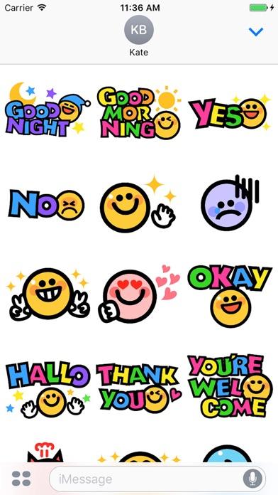 Smiley face Sticker 1のスクリーンショット2