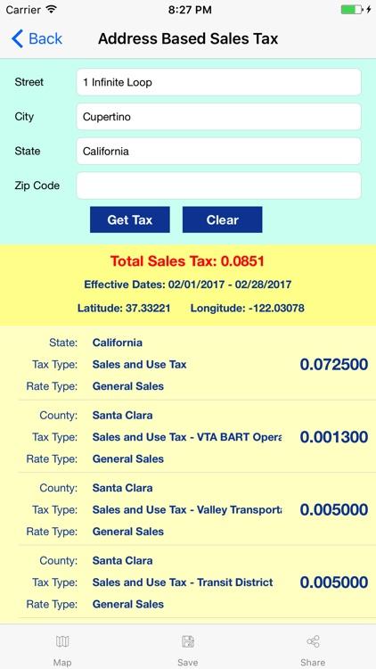 Streamline Sales Tax Rates screenshot-3
