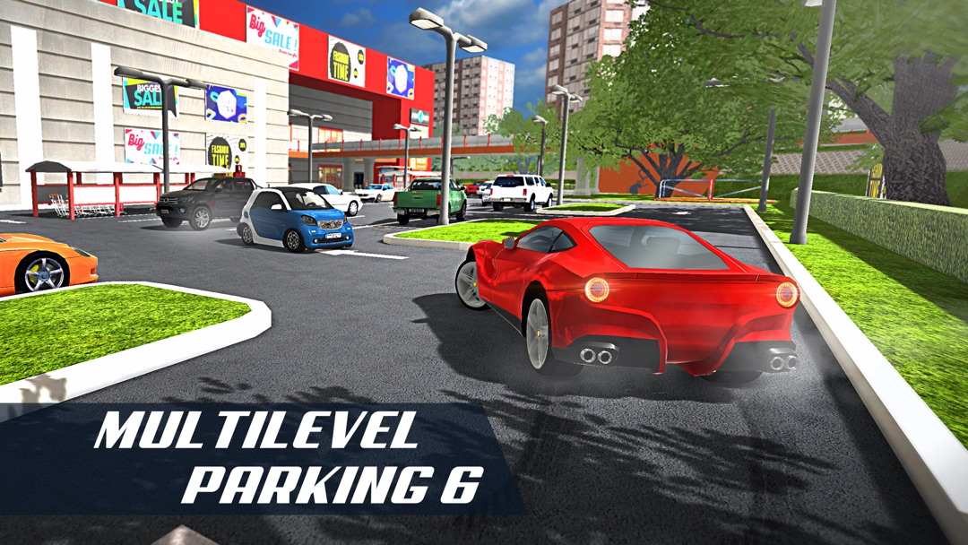Multi Level Car Parking 6 Shopping Mall Garage Lot