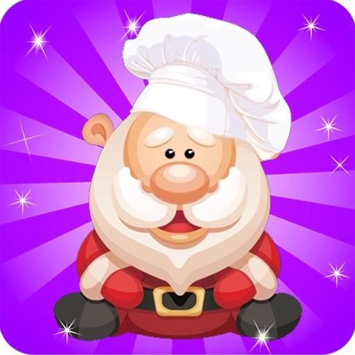 santa cooking and Maker dessert cake christmas
