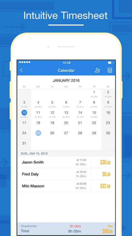 Timesheet app free iphone