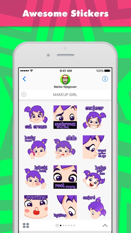 MAKEUP GIRL stickers by CandyASS