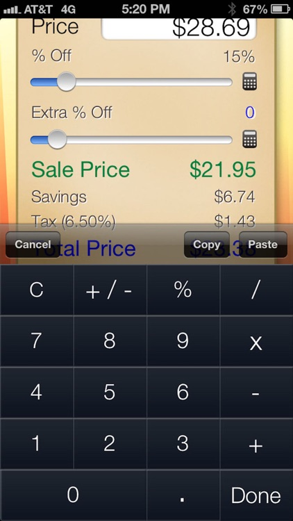Sale Saver - Percent Off / Shopping Calculator screenshot-3
